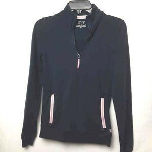 Vineyard Vines Womens 1/4 Zip Up Jacket Blue Mock